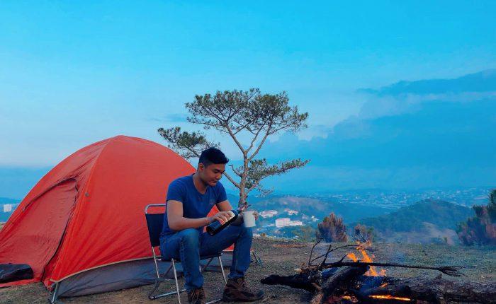 đêm cắm trại đà lạt