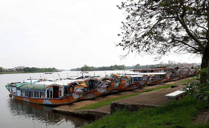 bến thuyền sông hương huế